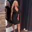 Frill Plunge V Neck Midi Dress Black