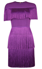 Tassel Mini Dress Purple