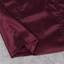 Puff Bardot Satin Dress Burgundy