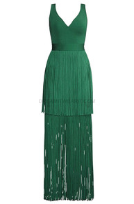 Tassel Maxi Dress Green