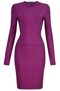 Long Sleeve Dress Magenta