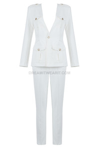 Long Sleeve Suit White