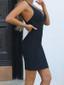 Plunge V Neck Dress Black