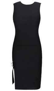 Slit Detail Dress Black