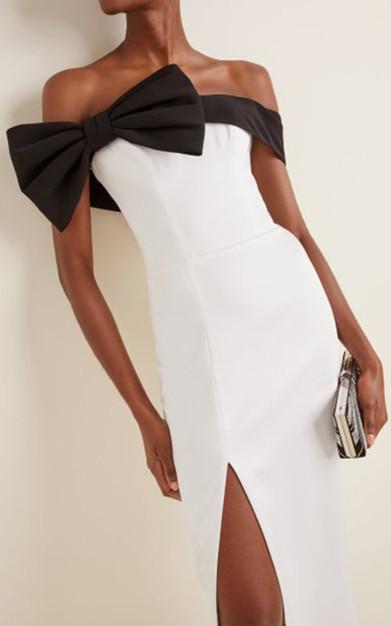 Bardot Midi Dress Black White