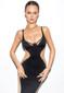 Side Mesh Insert Bustier Dress Black Nude