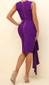 Draped Chiffon Detail Dress Purple