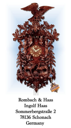 Where to buy cuckoo clocks Romabach & Haas