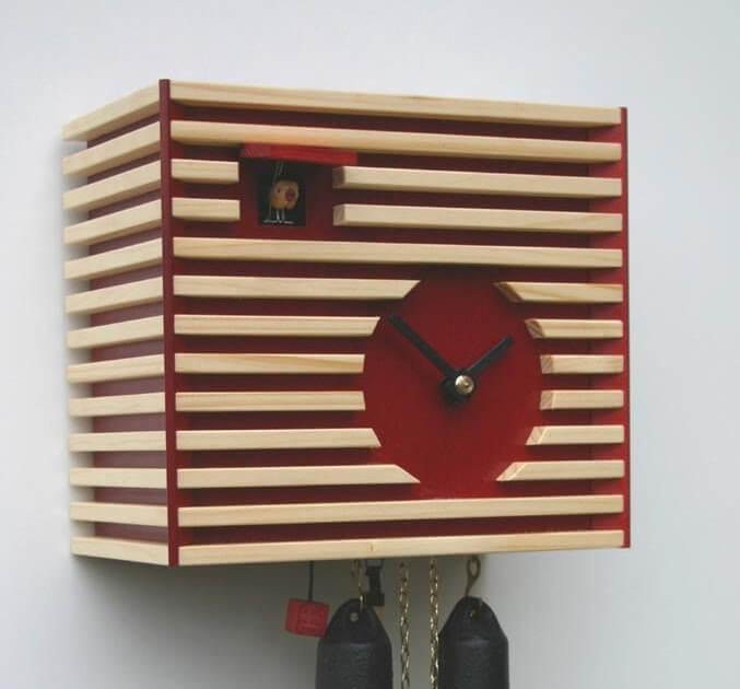 Modern Romba coo coo clock classic cube