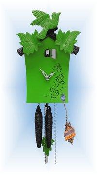 Cuckoo Clock Modern Green