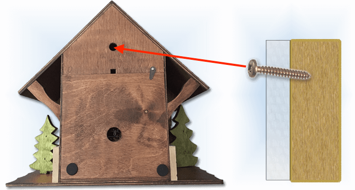 how to hang a cuckoo clock