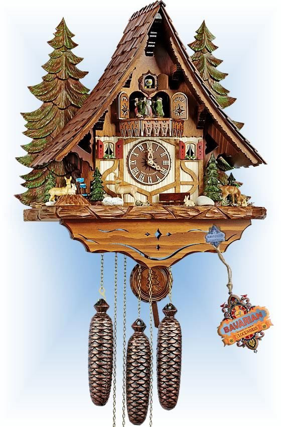 Forest Wildlife | Cuckoo Clock | by Schneider | full view