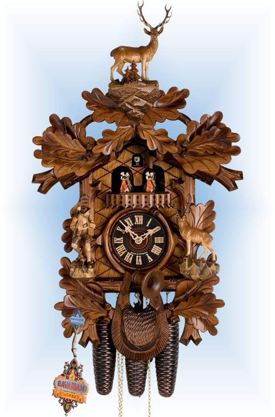 Hones | 8682-5tko | 24''H | Big Buck Hunter | Traditional | cuckoo clock | full view