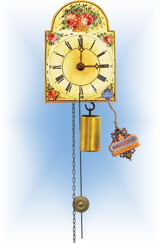 Rombach & Haas | 184 | 5''H | Flower Basket | Shield style | jockele clock | full view