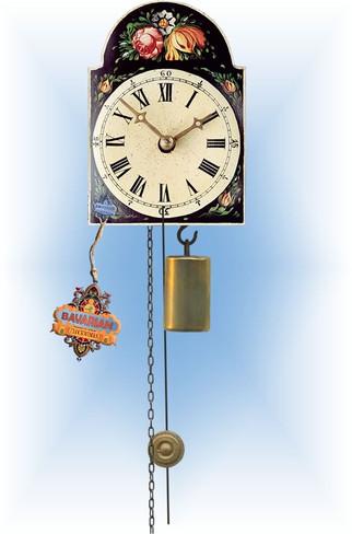 Rombach & Haas | 185b | 5''H | Black Floral | Shield style | jockele clock | full view