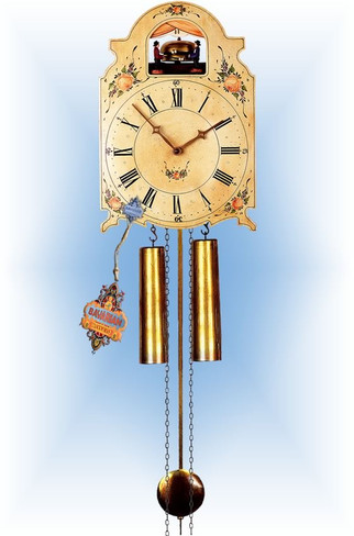 Rombach & Haas | 7376 | 15''H | Bell Ringer | Shield style | painted clock | full view