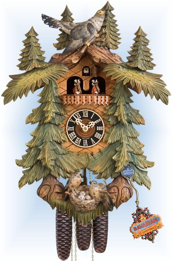 Hones | 86713-5tbu | 20''H | Nest Egg | Traditional | cuckoo clock | full view