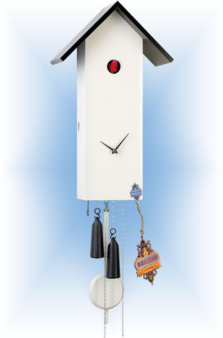 Rombach & Haas | sl15-9 | 16''H | Simple line 9 | Modern | cuckoo clock | full view