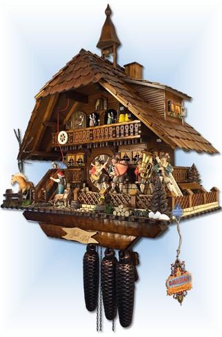 August Schwer | 5.8875.01.p | 23''H | Gutshof Estate | Chalet style | cuckoo clock | right view