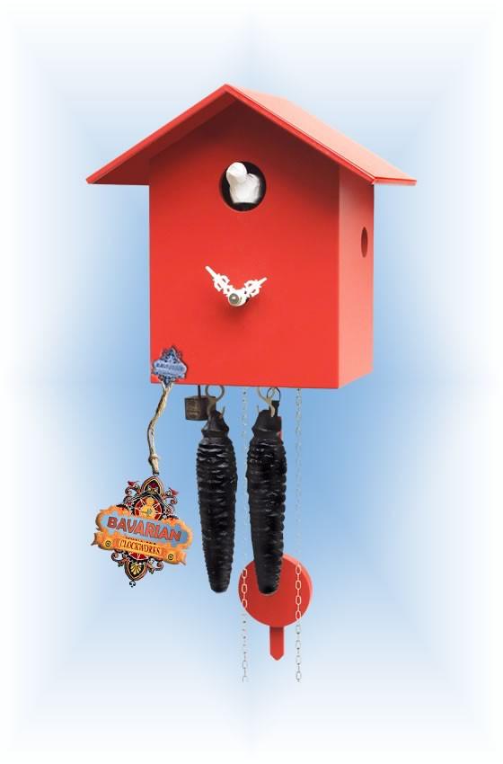 Rombach & Haas | kssl-3 | 0''H | Little Red | Modern | cuckoo clock | full view
