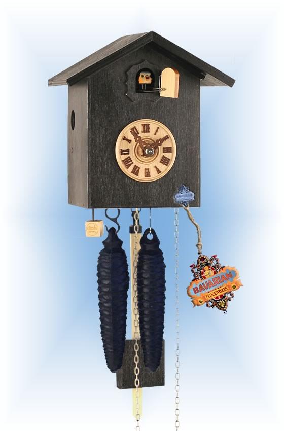 Rombach & Haas | sk12-2 | 7''H | Simple Bird 2 | Modern | cuckoo clock | full view
