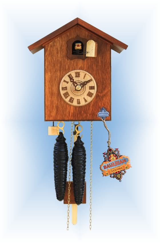 Rombach & Haas | sk12-10 | 7''H | Simple Bird 10 | Modern | cuckoo clock | full view