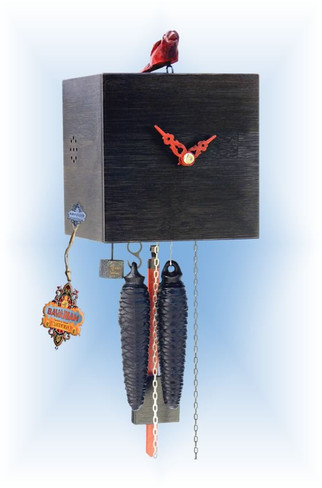 Rombach & Haas | bb11-2 | 7''H | Freebird 1 Black | Modern | cuckoo clock | full view
