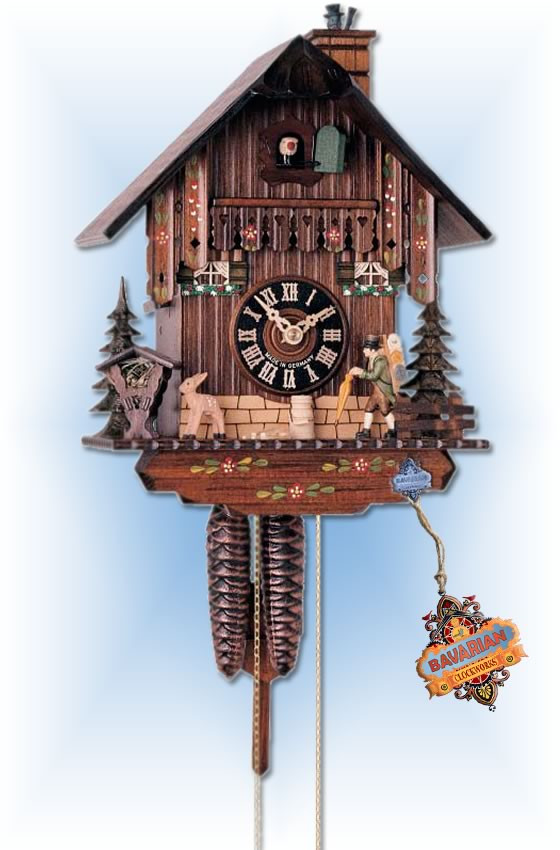 Hones | 160 | 10''H | Clock Trader | Chalet style | cuckoo clock | full view