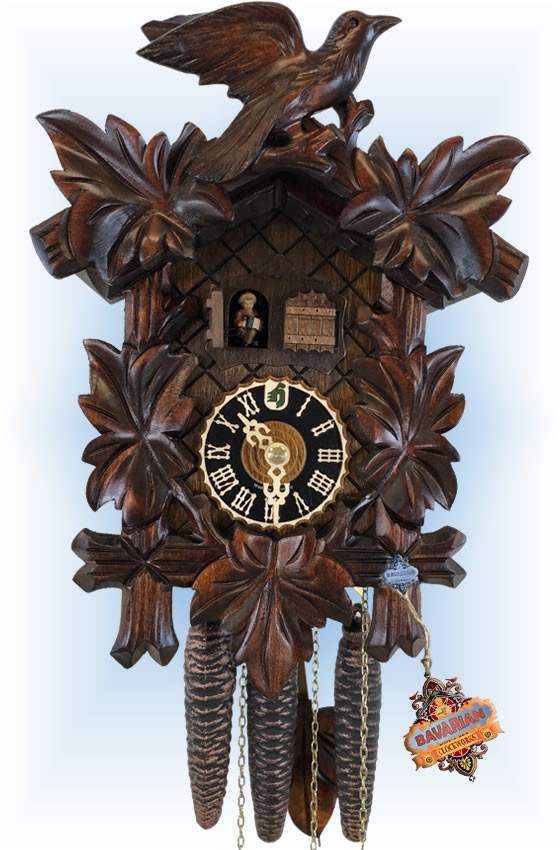 Hones | 600-2enu | 11''H | Double Door | Traditional | cuckoo clock | full view