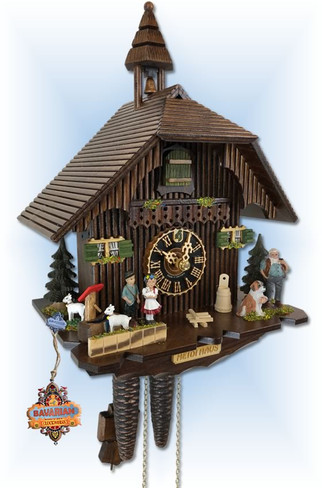 Hones | 1288 | 12''H | Heidi Haus | Chalet style | cuckoo clock | full view