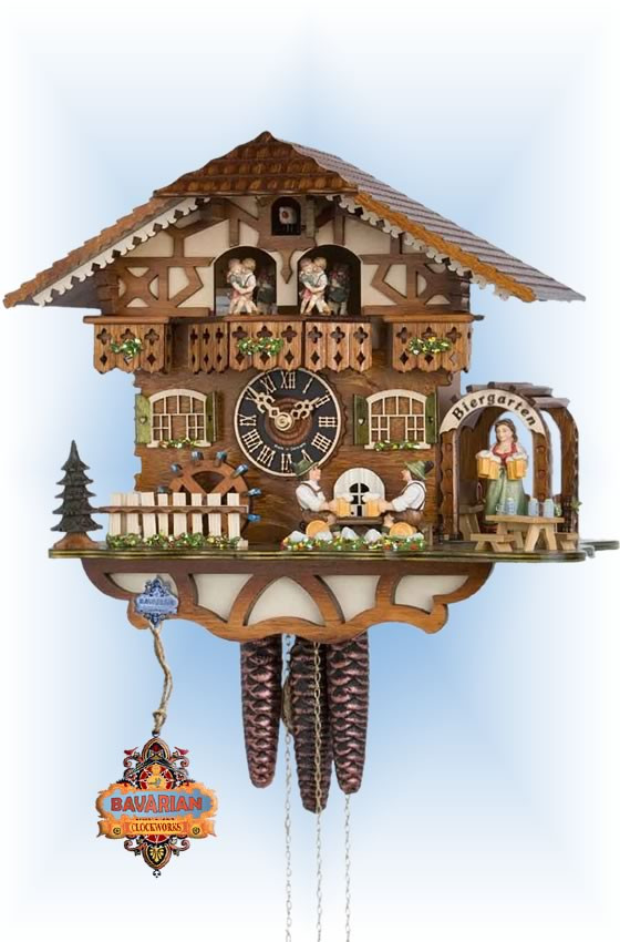 Hones cuckoo clock | 6764t-zenzi | 12''H | Brew House | Chalet style | full view