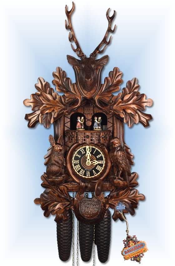 Hones | 86234-4t | 20''H | Game Hunter | Traditional | cuckoo clock | full view