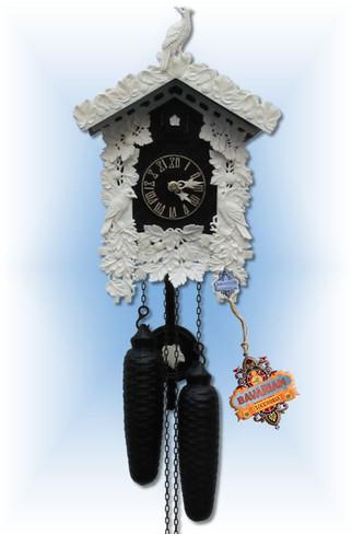 Sternreiter   8226B   12''H   Black Bone   Traditional   cuckoo clock   full view