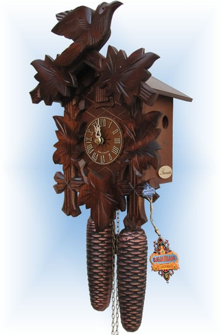 Sternreiter | 8200 | 12''H | Bird and Leaf | Traditional | cuckoo clock | right view