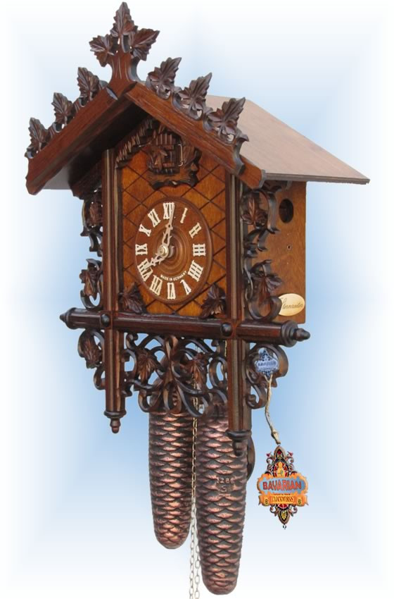 Sternreiter | 8229 | 14''H | Bahnhausle | Vintage cuckoo clock | right view