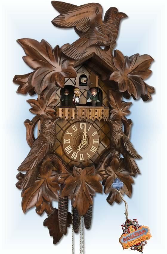 Rombach & Haas | 2430 | 16''H | Carved Cuckoos | Traditional | cuckoo clock | full view