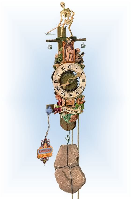 Rombach & Haas   7641   18''H   Medevil Reaper   Traditional   wall clock   full view