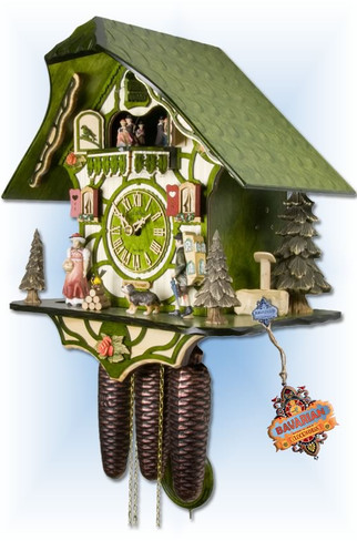 Adolf Herr | 531/1-8TMT-G | 15''H | Magic Green | Chalet style | cuckoo clock | right