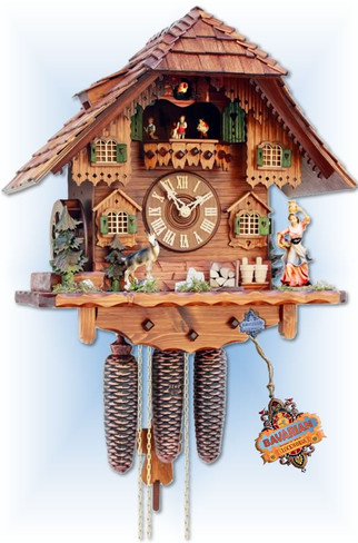 Rombach & Haas | 4565 | 17''H | Milk Maid | Chalet style | cuckoo clock | full view