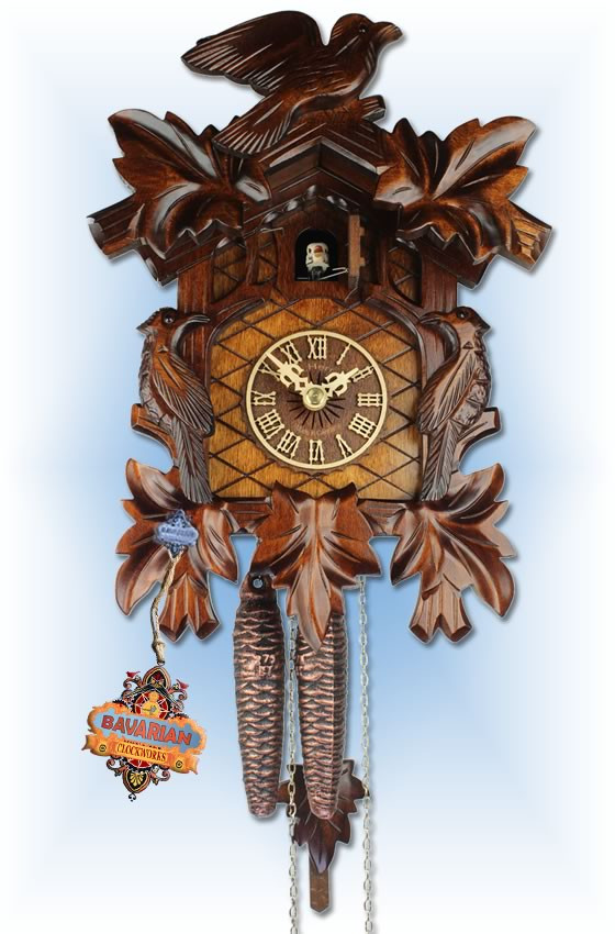 Adolf Herr | 102/1 | 12''H | Cuckoo Bird Family | Traditional | cuckoo clock | full view