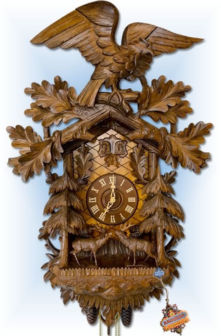 Rombach-Haas | 8399 | 35''H | Great Forest | Traditional | cuckoo clock | full