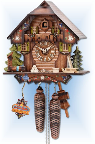 Hekas cuckoo clock | 876 | 13''H | Alpine Forest | Chalet style | full view