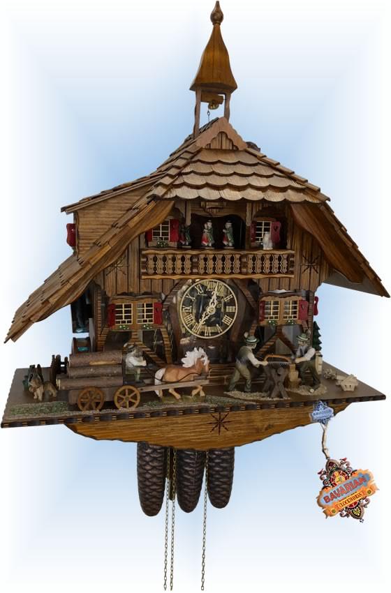 Schneider | 23''H | See Thru Mill | Chalet style | cuckoo clock | full view