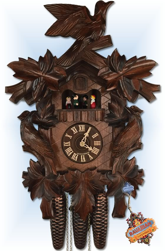 Seven Leaf cuckoo clock by Hekas | Traditional | 6T8-3675/8 - full view