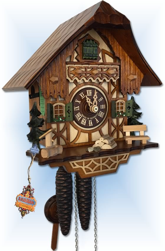 August Schwer | 1.0260.01.C | 9''H | Black Forest | Chalet | cuckoo clock | Left