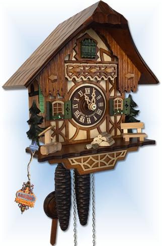 August Schwer | 1.0260.01.C | 9''H | Black Forest | Chalet | cuckoo clock | Left