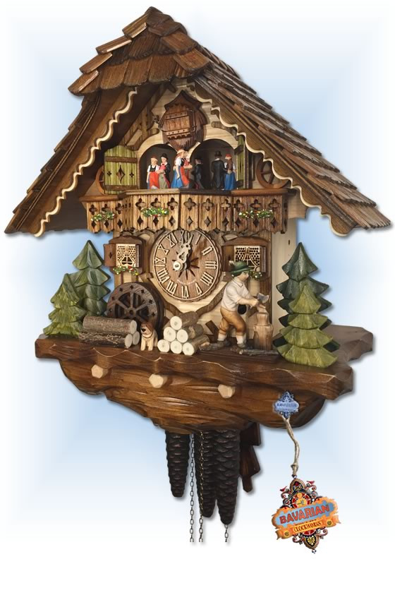 Hekas | 3702 | 14''H | Choppers Cottage | Chalet style | cuckoo clock | right