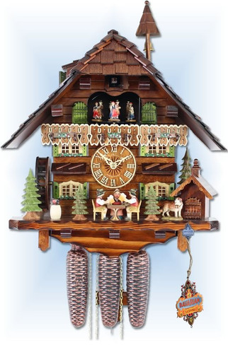 Adolf Herr | 815/11 8TMT | 19 inch | Beer Bet | Chalet | cuckoo clock | full view