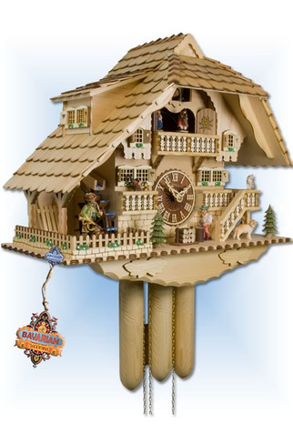Adolf Herr | 840/0 8TMT | 18 inch | Hunting Chopper | Chalet | cuckoo clock | left view