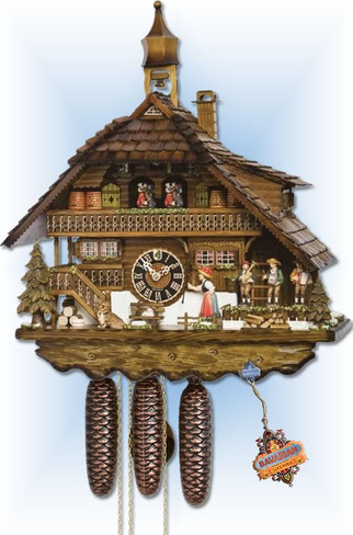 Hones | 8680T | 24 inch | Husli House | Chalet | cuckoo clock | full view